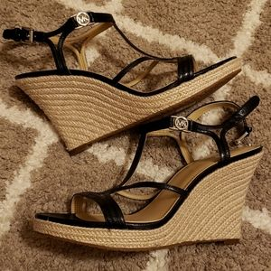 Michael Kors wedge sandals NWOT